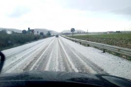 Tormentas con granizo y cota de nieve en 1.100 metros este martes en Balears