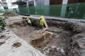 Imágenes del yacimiento histórico encontrado en las obras de la plaza del Parc