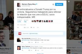 Mariano Rajoy felicita a Donald Trump por su victoria