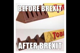 El Toblerone británico se encoge y los consumidores culpan al 'Brexit'