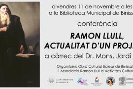 Conferencia 'Ramon Llull. Actualitat d'un projecte' a cargo de Jordi Gayà en Binissalem