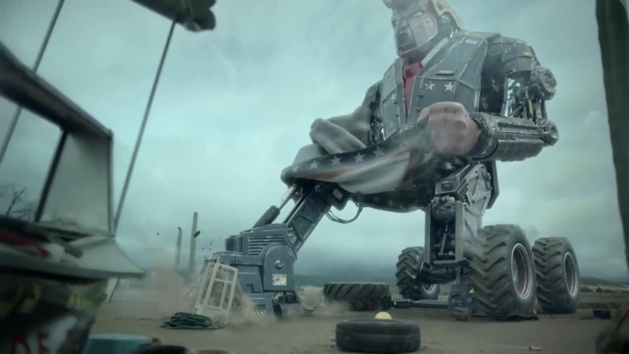 M.A.M.O.N.: Donald Trump y robots gigantes en un futuro apocalíptico