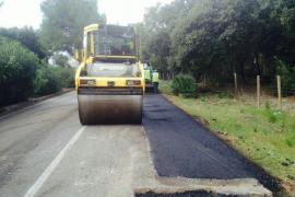 Empiezan las obras de asfaltado en distintas vías del municipio de Pollença