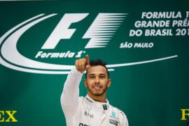 Hamilton gana en Brasil y luchará con Rosberg por el título en la última carrera del año