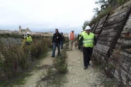 Empieza la reconstrucción del muro del tren de Manacor que terminará en 3 meses