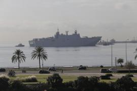 El buque 'Juan Carlos I' llega a Palma
