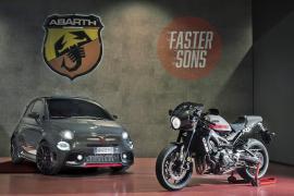 El 'concept car' Abarth XSR y la Yamaha XSR 900 Abarth, juntos