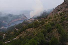 Incendio forestal en la Mola de Tuent