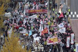 Protestas en Seúl ante la cumbre del G20