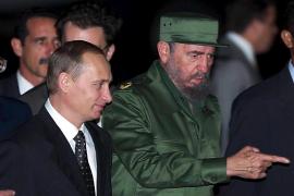 Vladimir Putin y Fidel Castro