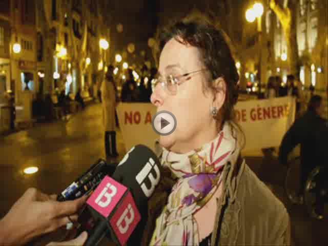 Un centenar de personas se concentra en Palma por la mujer asesinada en Pollença