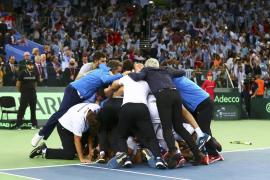 Argentina vence a Croacia y consigue su primera Copa Davis de su historia