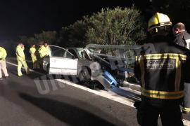 Herida tras chocar contra el guardarraíl en la autopista de Andratx