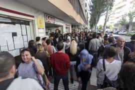 El paro sube en noviembre en Baleares en 11.388 personas