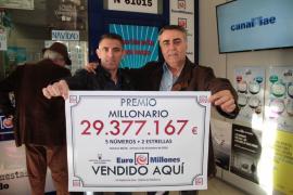 Un boleto de 'Euromillones' validado en Palma gana más de 29,3 millones de euros