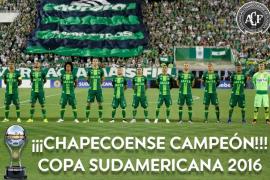 La Conmebol declara al Chapecoense campeón de la Copa Sudamericana 2016