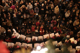 El Consell de Mallorca enciende las luces de Navidad e inaugura un belén monumental