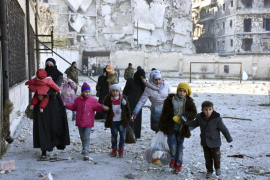 Medio millar de niños necesitan ser evacuados de Alepo para recibir asistencia médica