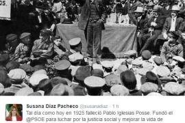 Susana Díaz recuerda a Pablo Iglesias en el 91 aniversario de su muerte