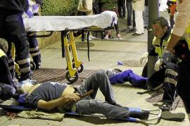 Herido grave un peatón arrollado por una moto en la calle Joan Miró