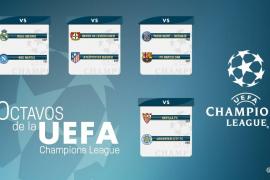 Nápoles, Leverkusen, PSG y Leicester, rivales de los equipos españoles en octavos de la Liga de Campeones