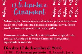'Música al barri' llena las calles y plazas de Canamunt de conciertos