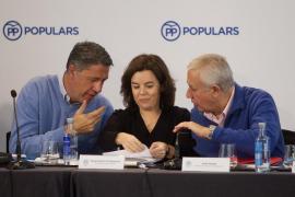 Javier Arenas, Soraya Sáenz de Santamaría y Xavier García Albiol