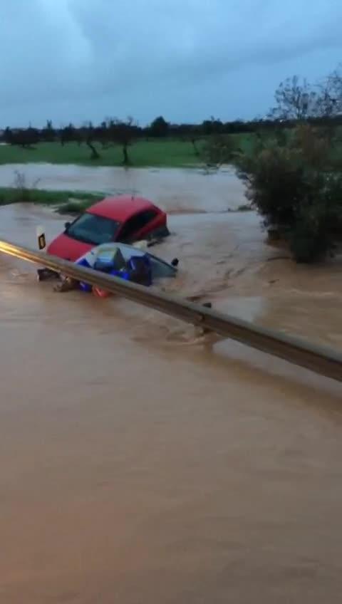 Carreteras cortadas, torrentes desbordados y árboles caídos en el último temporal del otoño