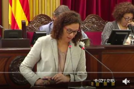Catalina Cladera acusa al PP de comportarse como unos «antisistema»