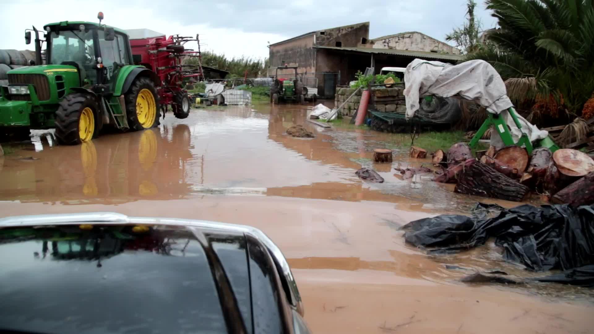 Tres días de lluvia desbordan Mallorca