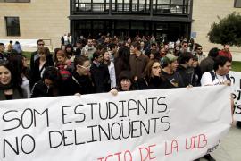 """Los estudiantes no quieren """"ni pistolas ni pistoleros"""" en el campus de la UIB"""