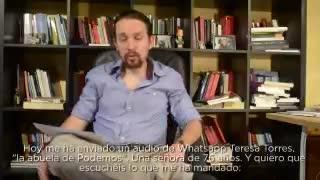 Iglesias pide perdón en un vídeo por la pugna en Podemos