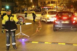 Nueve detenidos por conducir ebrios durante las fiestas navideñas en Palma
