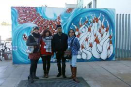 «Zon» y «L de Lú», ganadores del primer concurso de arte urbano contra la injusticia