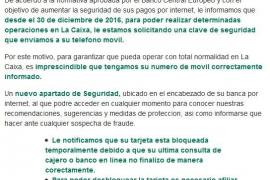 La Guardia Civil advierte de nuevos correos fraudulentos que suplantan a La Caixa