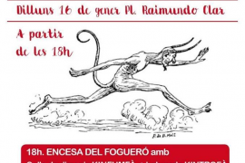 Canamunt enciende su 'fogueró' en este Sant Antoni 2017