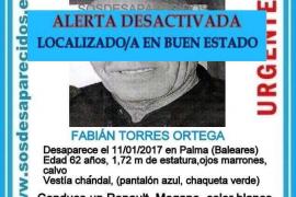 Localizado en buen estado el hombre desaparecido en Palma