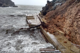 Obstáculo en el Muelle de Sa Calobra