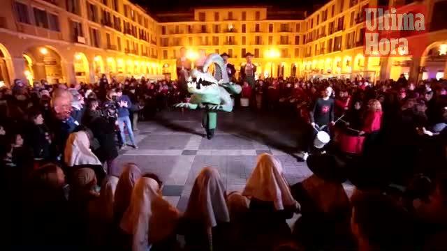 Palma da inicio a las fiestas de Sant Sebastià