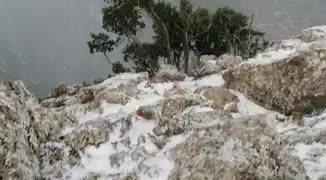 Primeros copos de nieve del año en Mallorca
