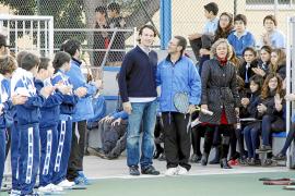 Carlos Moyà, antiguo alumno de San Cayetano, inaugura las nuevas instalaciones del colegio
