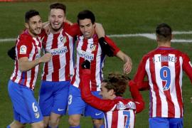 Un gol de Gaitán le da los tres puntos al Atlético