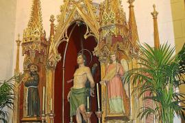 Costitx recupera un retablo del neogótico dedicado a Sant Francesc