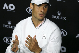 Rafael Nadal: «Estoy feliz porque juego al tenis»