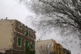 La cota de nieve se sitúa en los 300 metros en Baleares y se prevén vientos de 100 km/h
