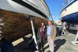 La Balear, en el dique seco, por una reparación exhaustiva