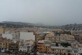 Nieve en Inca, Mallorca