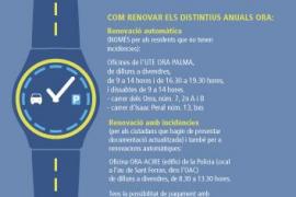 Mobilitat amplia el plazo para la renovación de la ORA y habilita un sistema de cita previa