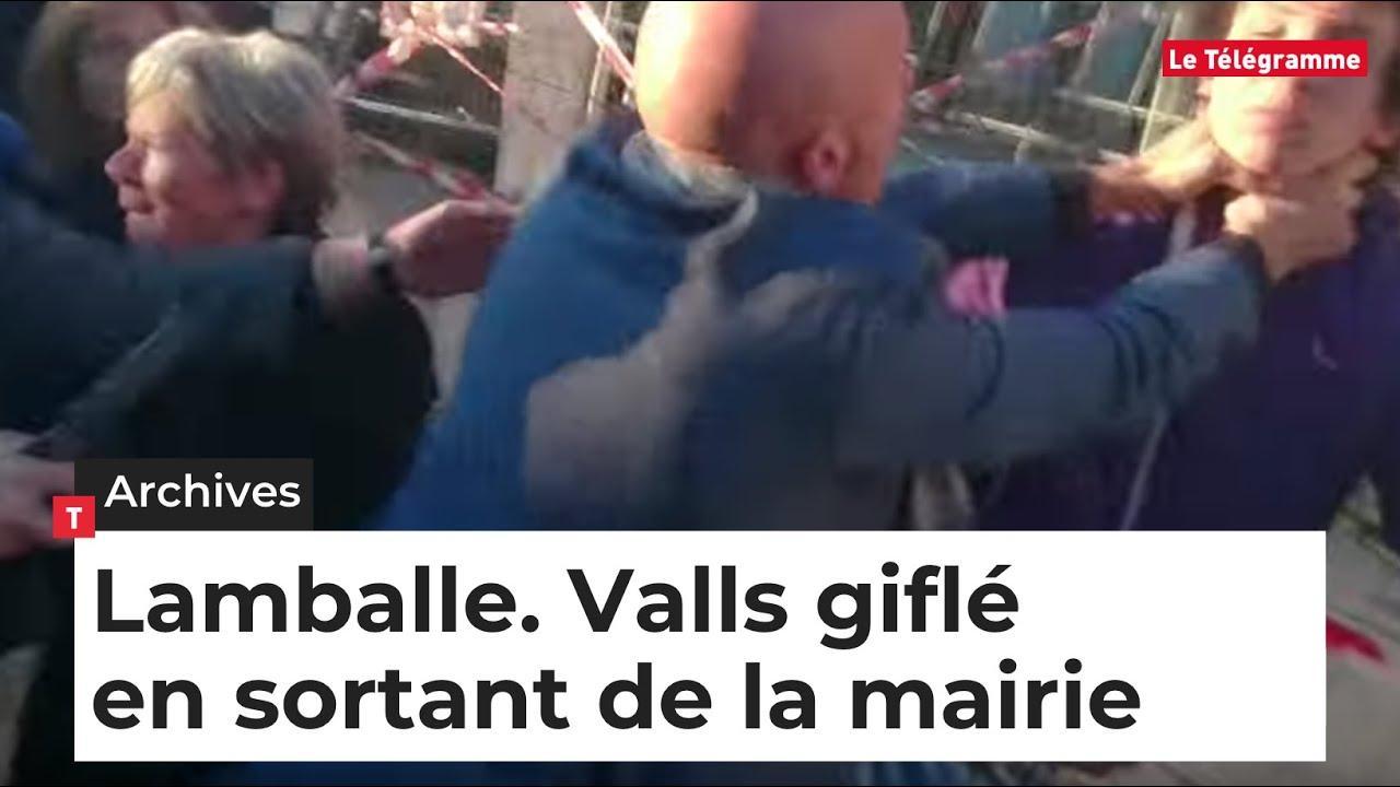 Abofetean a Manuel Valls mientras hacía campaña en las primarias socialistas