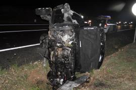 Una colisión por alcance, causa del accidente mortal en la carretera de es Cap Blanc